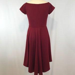984e37dd01 Sidefeel Dresses - EUC Wine Red Off Shoulder High Low Skater Dress